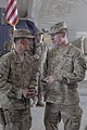 U.S. Army Maj. Gen. James C. McConville, right, the commanding general of the 101st Airborne Division, talks with Brig. Gen. Clarence K. K. Chinn, the deputy commanding general of Afghan Development South 130522-A-CW939-005.jpg