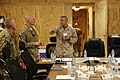 U.S. Marine Corps Sgt. Maj. Bryan B. Battaglia, right, the senior enlisted adviser to the Chairman of the Joint Chiefs of Staff, and Army Command Sgt. Maj. (CSM) Christopher Menton, center, the CSM of the 4th 130504-A-CL397-050.jpg