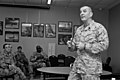 U.S. Marine Corps Sgt. Maj. Bryan B. Battaglia, the senior enlisted adviser to the chairman of the Joint Chiefs of Staff, speaks to U.S. Soldiers and Airmen with the Illinois National Guard at the 182nd Airlift 130406-Z-EU280-126.jpg