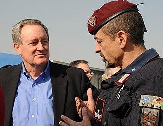 Mike Crapo - Crapo with Brigadier General Carmelo Burgio of Carabinieri in Afghanistan, 2010.