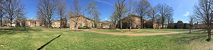 Panoramic image of the main quad UNC Chapel Hill panoramic 2017.jpg