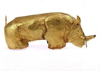 Mapungubwe Collection - Close-up of the golden rhinoceros of Mapungubwe