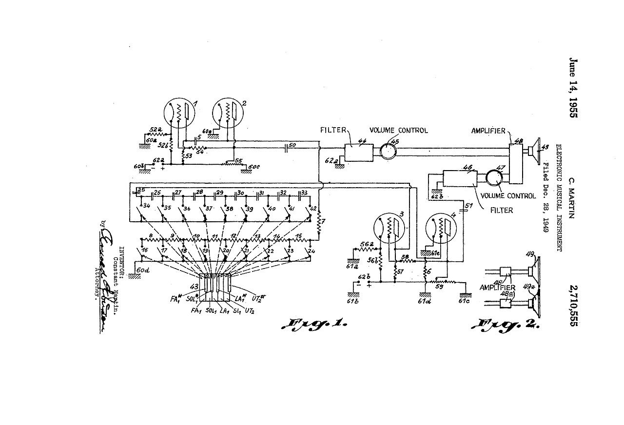 File Us2710555a Electronic Musical Instrument  1949