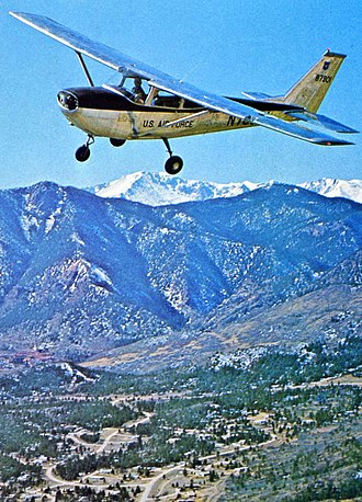 34th Training Wing - T-41 Mescalero over the United States Air Force Academy