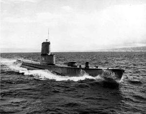 Carp (SS-338), underway, c. 1960's.
