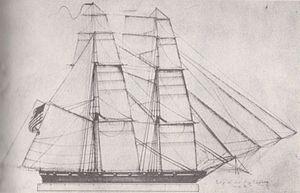 USS Chippewa sail plan
