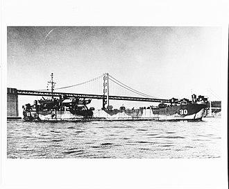 USS LST-30 - Image: USS LST 30 San Francisco Bay 1945 1946