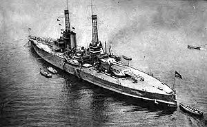 USS Nevada (BB-36) - The stern of Nevada during WWI.