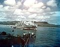 USS Tranquillity (AH-14) arrives at Guam in August 1945.jpg