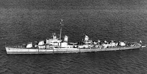 USS William M. Wood (DD-715) - Image: USS William M. Wood (DD 715) underway c 1945