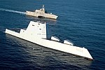 USS Zumwalt is on the final leg of its three-month journey to its new homeport in San Diego. (31620613005).jpg