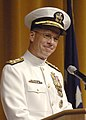 US Navy 050722-N-5390M-006 Adm. Mike Mullen delivers his remarks after relieving Adm. Vern Clark as Chief of Naval Operations (CNO).jpg