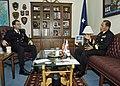 US Navy 061107-N-4649C-002 Rear Adm. James Bird (left), meets with Commander, Korean Submarine Force Rear Adm. Il Heon Bae, during the 25th Submarine Warfare Committee Meeting.jpg