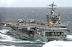 US Navy 070116-N-0535P-023 Nimitz-class aircraft carrier USS Harry S. Truman (CVN 75) steams through the Atlantic Ocean.jpg
