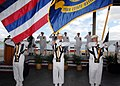 US Navy 070508-N-4965F-009 Sailors assigned to Navy Region Hawaii Ceremonial Guard parade the colors during a change of command ceremony.jpg