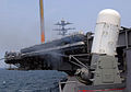 US Navy 070820-N-0455L-002 Nimitz-class aircraft carrier USS Harry S. Truman (CVN 75) conducts a routine test fire of the Phalanx Close-In Weapon System (CIWS).jpg