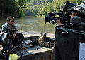 US Navy 070823-N-4500G-177 A member of Special Boat Team (SBT) 22 explains Navy Special Warfare capabilities during an on-camera interview recorded for use in a recruiting video.jpg