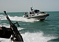 US Navy 090327-N-0803S-003 Sailors assigned to Maritime Expeditionary Security Forces patrol the waters surrounding the Khawr Al Amaya Oil Terminal in the U.S. 5th Fleet area of responsibility.jpg