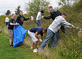 US Navy 100423-N-9860Y-001 Sailors assigned to the Center for Naval Aviation Technical Training Unit Whidbey Island collect trash in the Saratoga Heights housing area during the Great American Clean Up.jpg