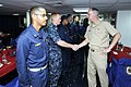 US Navy 100920-N-8335D-204 Rear Adm. Richard Landolt, commander of Amphibious Force, U.S. 7th Fleet, meets six newly reported Ensigns aboard the am.jpg