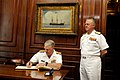 US Navy 110523-N-ZB612-040 Chief of Naval Operations (CNO) Adm. Gary Roughead signs a guest book.jpg
