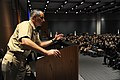 US Navy 111102-N-ED149-238 Capt. Douglas Verissimo addresses nearly 2,300 Theodore Roosevelt Sailors during the ship's fall Safety Stand Down.jpg