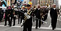 US Navy 111124-N-CD297-005 Musician 1st Class Jennifer Lange, from Rockford, Ill., the drum major for the U.S. Navy Band Great Lakes marching band.jpg
