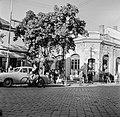 Ulica Tomása Garrigue Masaryka, balra az ulica Zeleznicná torkolata. Fortepan 53959.jpg