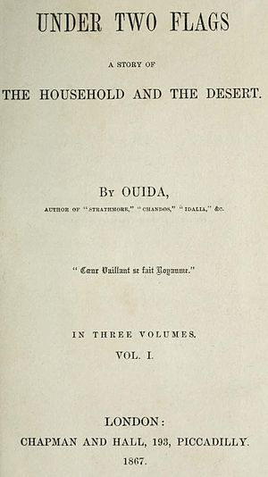 Under Two Flags (novel) - First edition title page