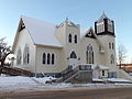 United Church, Athabasca AB, from the south east.JPG