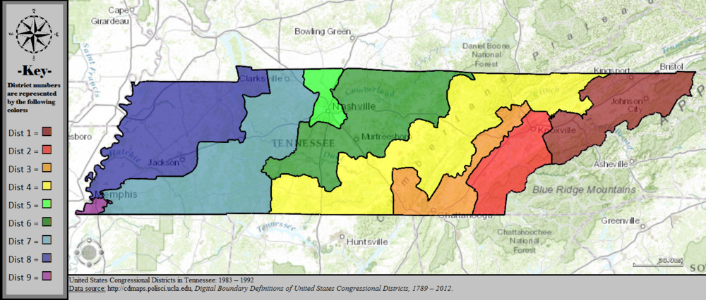 Tennessees Congressional Districts Wikiwand - Us map by congressional district