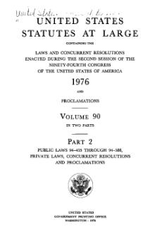 United States Statutes at Large Volume 90 Part 2.djvu