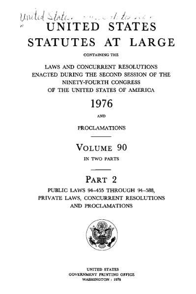 File:United States Statutes at Large Volume 90 Part 2.djvu