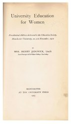 Eleanor Mildred Sidgwick: University Education for Women