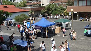 English: Club stalls during orientation week a...