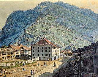 Unterseen - Print of Unterseen in 1819