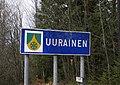 Uurainen municipal border sign 20181113.jpg