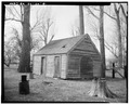 VIEW OF WASH HOUSE FACING SOUTHWEST. - Peter Dalton Ranch, 9005 South Virginia Street, Reno, Washoe County, NV HABS NEV,16-RENO,2-4.tif