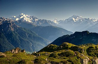 Pennine Alps - View of Pennine Alps from Riederalp