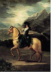 Portret Marii Teresy de Vallabriga na koniu