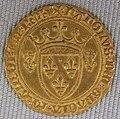 Valois, carlo vii, scudo d'oro con corona detto scudo nuovo, 1422-1461.JPG