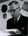 Valtionarkisto 1967. Fil. tri Aimo Wuorinen arkistopäivillä 25.5.1967. Kansallisarkisto.jpg