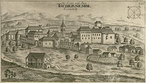 Črnomelj - Engraving of Črnomelj by Valvasor (1679)
