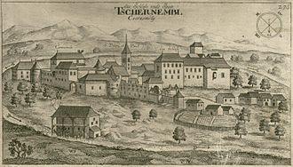 Črnomelj - Engraving of Črnomelj by Valvasor (1679)