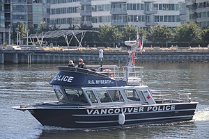 Law enforcement in Canada - Image: Vancouver Police Vessel