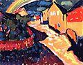 Vassily Kandinsky, 1909 - Murnau with rainbow.jpg