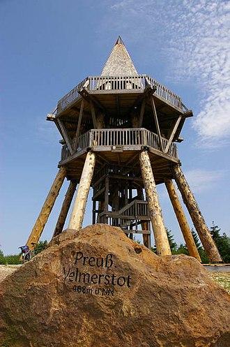 Teutoburg Forest / Egge Hills Nature Park - Preußischer Velmerstot, the highest point in the nature park