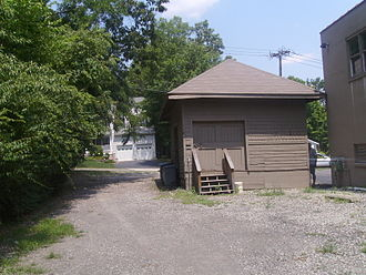 Verona, New Jersey - The last vestige of the Erie Railroad's Caldwell Branch, the Verona Freight station with the former right-of-way