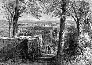 History of Augusta, Georgia - View of Augusta, from Summerville, 1872, by Harry Fenn; Augusta annexed Summerville in 1982