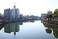 View of Hori-kawa From Goryo-bashi Bridge, Atsuta Ward Nagoya 2014.jpg